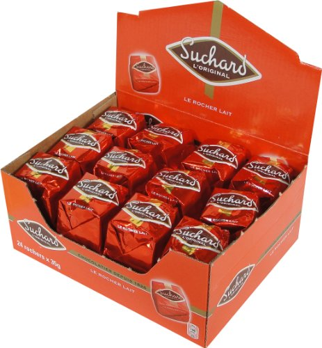 Suchard Milk Chocolate Rochers Box - 1.85 lbs - 24 Pieces by Suchard