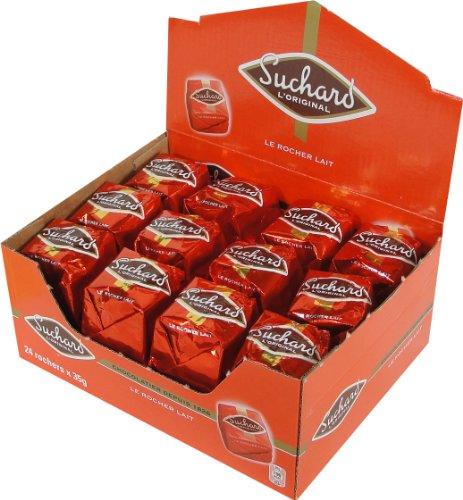 Suchard Milk Chocolate Rochers Box - 1.85 lbs - 24 Pieces