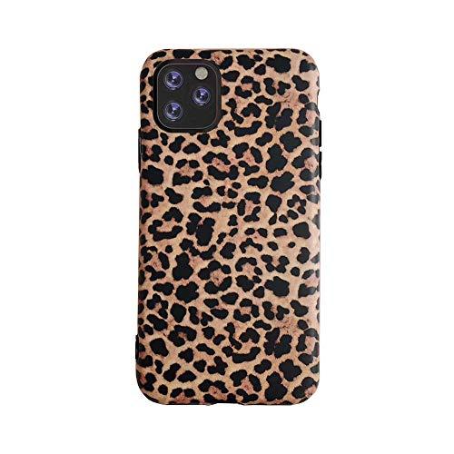 YonMeet - Cover leopardata per iPhone XS MAX Classic Luxury Fashion, in morbido gel