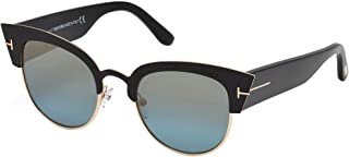 FT0607 05X Black Alexandra Retro Sunglasses Lens Category 2 Lens Mirro
