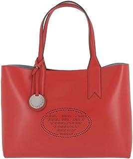Emporio Armani Logo Shopping Donna Handbag Rosso