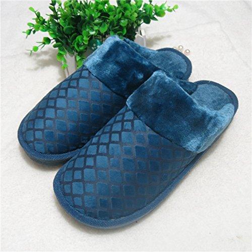 Les messieurs d'hypertrophie, rester au chaud l'hiver chaussons coton roi coton et 45 46 47 48 300 (44-45 mètres), Matt CQJP blue