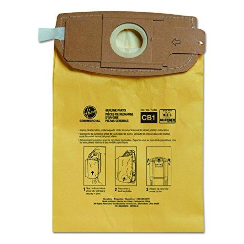 Hoover Commercial AH10273 HushTone Back Pack Bags, Allergen Filtration (Pack of 10)