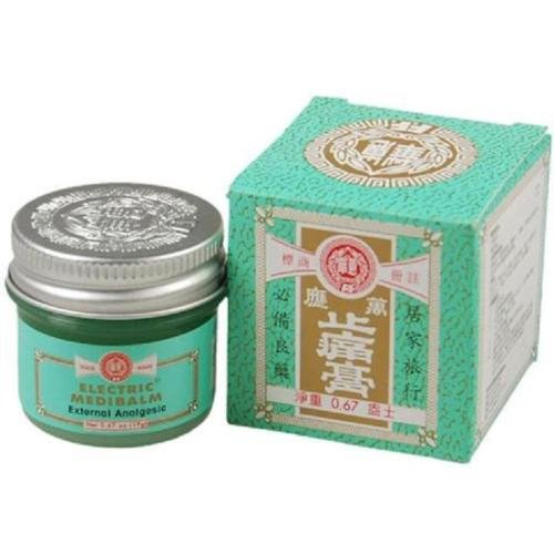 FEI FAH Electric Medibalm Net 0.67oz (19g) Ointments, Creams & Oils,Muscular Aches, Stiff Neck, Headaches, Toothaches, Colds, Stuffy Nose, 惠华万应止痛膏 19克