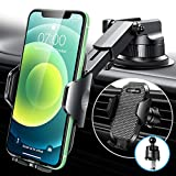[Military-Grade] VANMASS Car Phone Holder, [Sturdy Hook Clip & Suction], Universal Cell Phone Mount for Car Dashboard Windshield Air Vent, Dash Stand Compatible with iPhone 13 12 11 Pro Max 8 Samsung