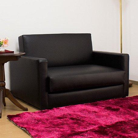 おしゃれな レザー ソファー&シングルベッド 折りたたみ式 幅115 ブラック