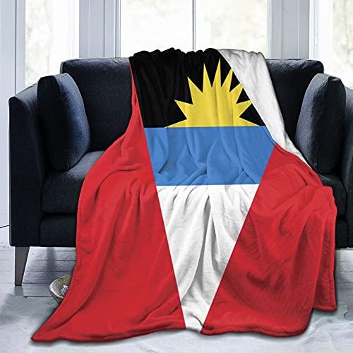 Flanelldecke mit Flagge von Antigua & Barbuda; flauschig, bequem, warm, leicht, weich