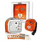 AED 自動体外式除細動器 AED本体+収納ケース+屋外ステッカー+のお得セット【本体 AED CU-SP1(一式) 、レスキューセット、キャリングケース、 DVD、収納ケース aed-kbocx111、AED専門店クオリティー AEDステッカー1604、1609 】