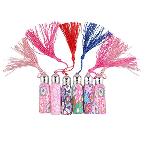 EXCEART 6 Unidades de Botellas de Rodillos de Aceite Esencial con Bolas de Rodillo Mini Vial de Muestra de Vidrio con Tapas para Perfume Y Aceites de Aromaterapia