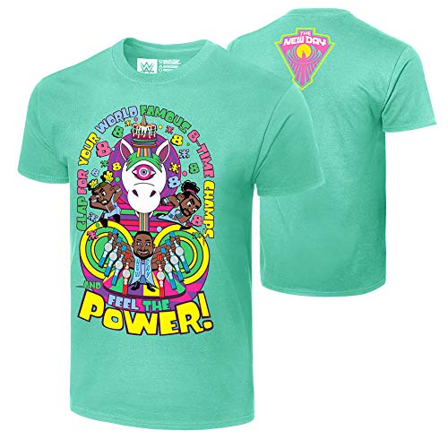 WWE Authentic Wear The New Day World Famous 8-Time Champs T-Shirt Green 3XL
