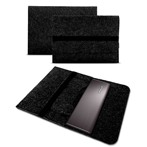 UC-Express Sleeve Tasche Hülle für Lenovo ThinkPad P51 P51s P52 P52s 15,6 Zoll Filz Notebook Cover Case Grau, Farbe:Dunkel Grau