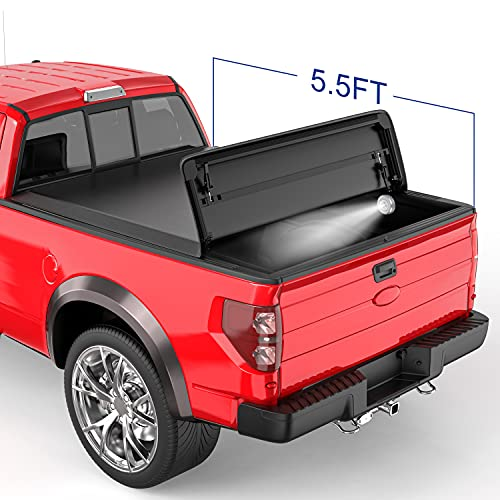 MOSTPLUS Tri-Fold Soft Truck Bed Tonneau Cover On Top Compatible with 2015-2020...