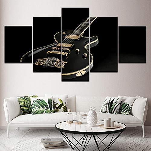 BDFDF Cuadro En Lienzo Impresión 5 Piezas Artística Lienzo Decoracion De Pared del Hogar Reloj De Bolsillo Retro Carteles Pintura 5 Cuadros Arte Creativos 150X80Cm