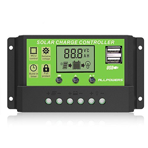 ALLPOWERS Dual USB 20A Solar Charge Controller