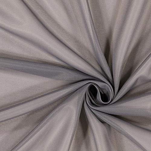 Fabulous Fabrics Futterstoff grau, 140cm breit – zum Füttern von Jacken, Kleidern oder Mänteln - Meterware erhältlich ab 0,5 m