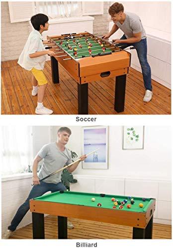 PULLEY -T Kickertisch, Kombi-Spieltisch 8 in 1 inkl. Kicker/Billard/Hockey/Tischtennis/Backgammon/Schach/Shuffleboard/Bowling T