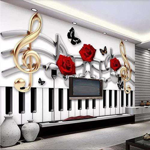 XUNZHAOYH 3D Wallpaper Wandbild,Custom Wallpaper 3D Wandbild Mode Musik Thema Sofa Hintergrund Wand Wohnzimmer Image Tapeten Home Decor 3D Wallpaper,360(B) X230Cm(H)(11,1X7,6) Ft