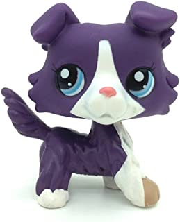 ZAD Littlest Pet Shop Purple Collie Dog Puppy Blue Eyes Figure Gift Toy LPS #1676