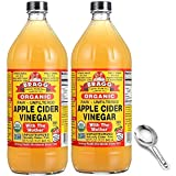 BRAGG APPLE CIDER VINEGAR: The Bragg ACV Vinegar is made from organically grown apples, and offers various health benefits. To easily incorporate ACV into your diet, you can take a daily 2 oz shot, pour it over your salad, drink in a morning elixir w...