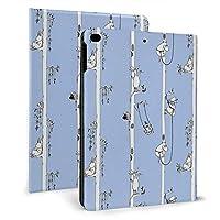 ムーミン Ipad 7.9 ケース Ipad 9.7 インチ Ipadmini4/5ケース Ipadair1/2 9.7インチ 対応 Ipadmini4/5 7.9ケース 全面保護型 手帳型 耐衝撃 防塵 軽量 二つ折りスタンド スマートケース