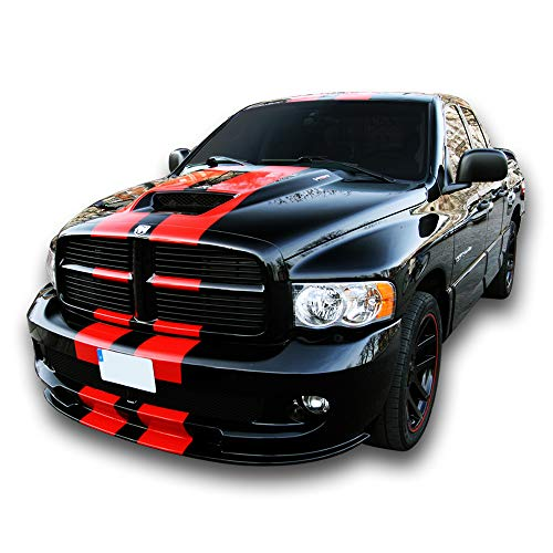 Bubbles Designs Decal Sticker Graphic Front to Back Stripe Kit Compatible with Dodge Ram SRT 1500 2500 3500