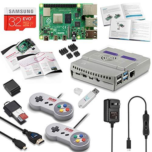 Vilros Raspberry Pi 4 8GB SNES Style Retro Gaming Kit-Includes 2 SNES Style Gamepads and SNES Style Case