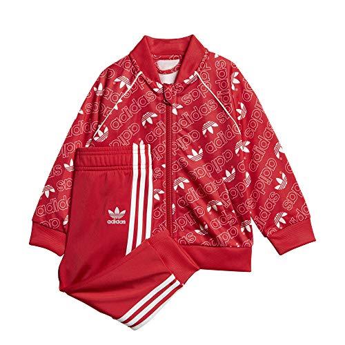 adidas adidas I M TRF SART- Trainingsanzug für Babys, Rot/Weiß