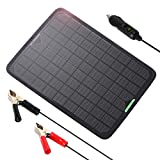 ALLPOWERS 18V 12V 10W Portable Solar Panel Trickle Battery Charger...