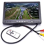 RC LCD FPV Monitor 7 Inch 1024x600 Display IPS Screen Monitor NO Blue with Hood Sun Shield+XT60 to Deans Connector