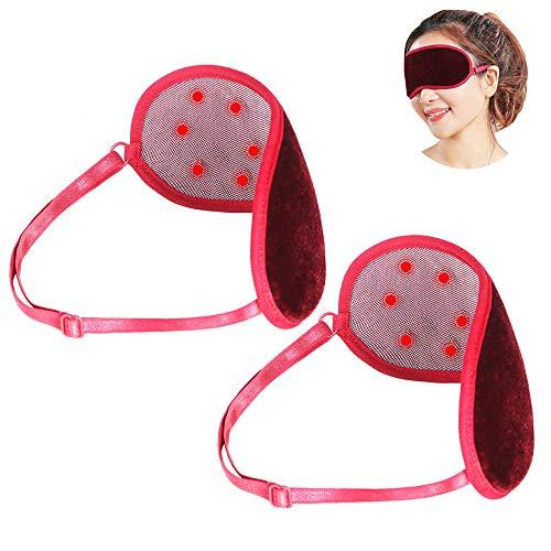 MIMI KING Cómoda Turmalina Rayo infrarrojo lejano Eye Mask Alivio del Dolor Dormir Shade Ayuda Cubierta magnética del Masaje del Remiendo del Ojo Paquete de 2