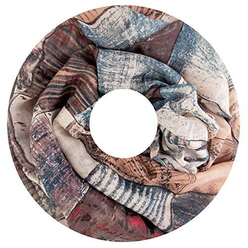 Fashion Max Bufanda para mujer, pañuelo redondo, monocolor, bufanda de colores