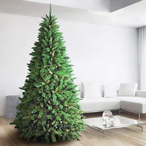 BAKAJI Albero di Natale Super Folto New (TF) Verde Ecologico PVC, Base a Croce in Ferro, Rami innesto ad uncino, Aghi Anti Caduta, Foltissimo (270 cm (2243 Rami))
