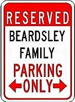 金属標識Beardsley家族駐車場ノベルティスズ通り徴候