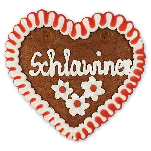 Lebkuchenherz 12cm - Schlawiner - die leckere Geschenkidee aus Bayern