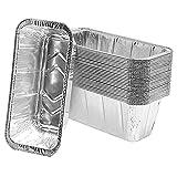 NiceJoy Bandejas de Goteo Desechables, Bandejas de Goteo de Papel de Aluminio, Bandejas de Asar de Papel de Aluminio Reutilizables, Bandejas de Goteo Utensilios para Hornear de Aluminio 30 Piezas