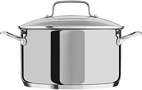 discount KitchenAid KC2S60LCLS online sale wholesale 6-Quart Low Casserole Stockpot with Glass Lid in Polished Stainless Steel Pot sale