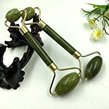 Majoxin Jade Roller Massager Natural Serpentine Jade Massage Wand Face Massager Roller Beauty Bar Healing Stone