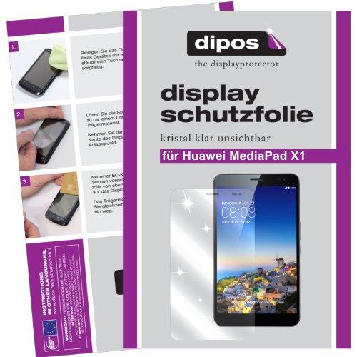 dipos I 2X Schutzfolie klar kompatibel mit Huawei MediaPad X1 7.0 Folie Bildschirmschutzfolie
