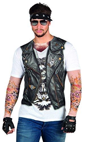 Boland 84201 - Fotorealistisches Shirt Biker, Kostüme für Erwachsene
