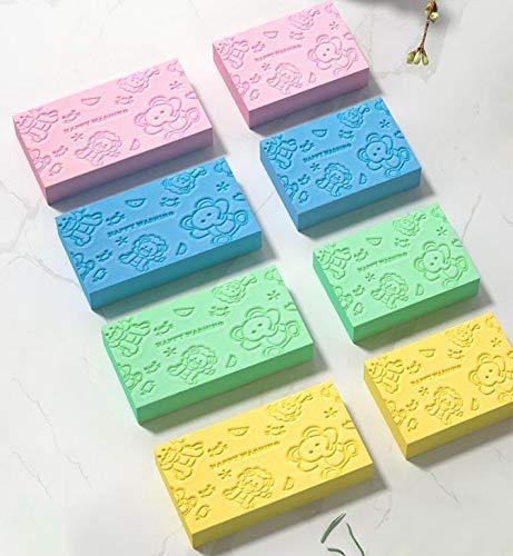 YHJJ Exfoliator Körperschwamm, Cartoon-Baby-Badeschwamm Pinsel Hautfreundlich Rubbing Scrubber Premium-Durable Washing Werkzeugreinigung Pad for Baby Erwachsene Männer Frauen 7.2