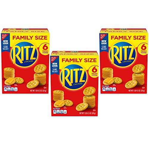 Ritz Original Crackers, Family Size, 3 Boxes, 1.29 Pound (Pack of 3)