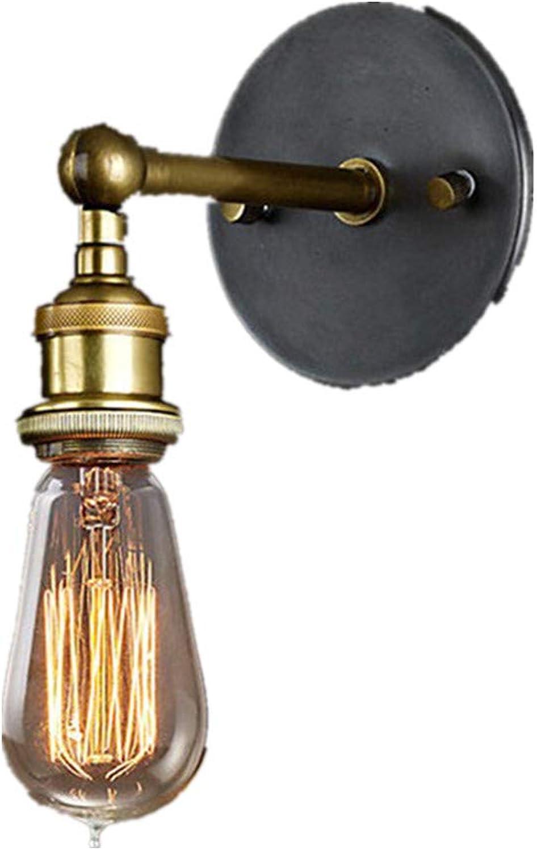 Amerikanische Land-Wand-Lampe Nordic Retro-nostalgische Beleuchtung Flur Balkon Bar Wohnzimmer einfache Kupfer-Kopfwandlampe ist tief von Menschen geliebt