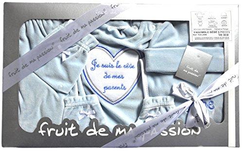 ensemble 6 pièces parure vêtement pour bébé en coffret tocj006 tocj006bleu-reve_Naissance