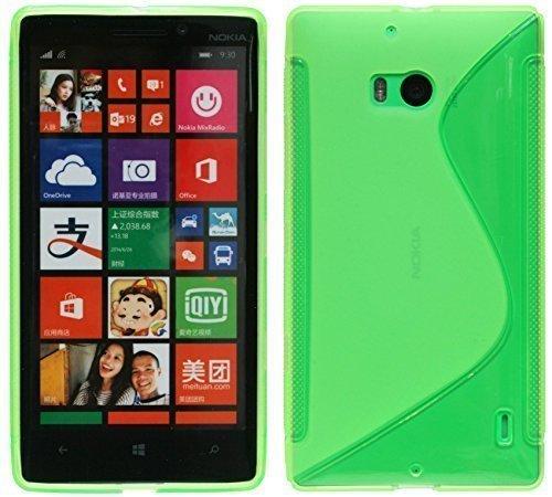 ENERGMiX Silikon Hülle kompatibel mit Nokia Lumia 930 Schutzhülle Case Cover Gel in Grün