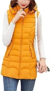 Macondoo Women's Puffer Vest Quilted Hooded Warm Winter Down Vest Coat