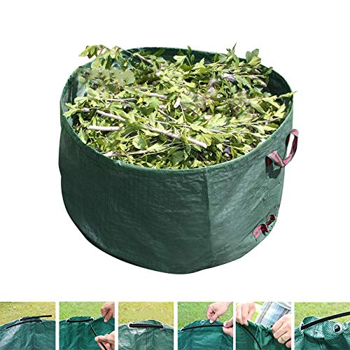 Affordable Yard Waste Bags Green Eco-Friendly Garbage Storage Bag Debris Grass Yard Portable Leaf Ba...