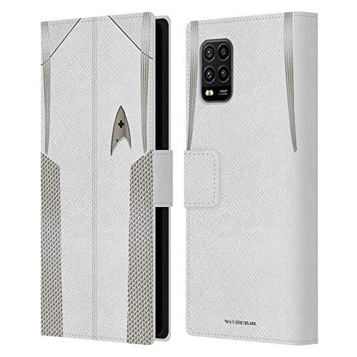 Head Case Designs Oficial Star Trek Discovery Oficial médico Uniformes Carcasa de Cuero Tipo Libro Compatible con Xiaomi Mi 10 Lite 5G