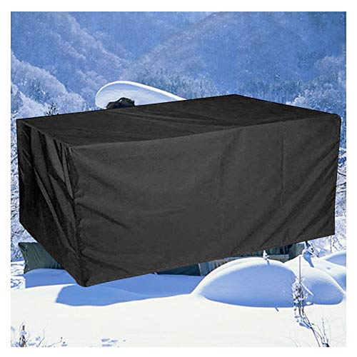 LITINGFC-Garden Furniture Cover,Oxford Fabric Outdoor Patio Furniture Covers,Waterproof Windproof Moisture-proof Patio Table Cover (Color : Black, Size : 315x160x74cm)