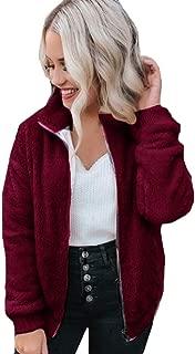 Funnygals - Womens Jacket Coat Sale 2019 New Long Sleeve Warm Faux Fur Fluffy Fleece Zip Up Hooded Cardigan Outerwear