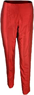 Women's Taffeta Stitched Crease Slim Ankle Pants